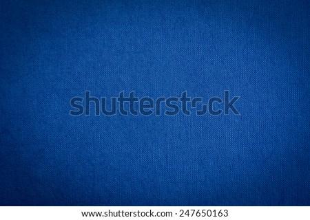 Dark blue fabric texture background - stock photo