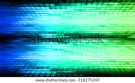 dark blue green illustration of technology internet network computer background with binary number, style background. infographics. Information. motion blur. pixel. Binary digit - stock photo