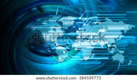 Dark blue green purple Light Abstract Technology background for computer graphic website internet and business. circuit. illustration. infographics. motion move blur.neon. pixel. eye scan virus - stock photo