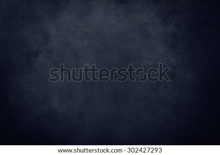 dark blue grunge background or texture with black vignette borders - stock photo