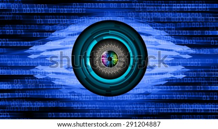 dark blue illustration of technology internet network computer background with binary number, Matrix style background. infographics. Information. motion blur. pixel. text box. eye. arrow - stock photo