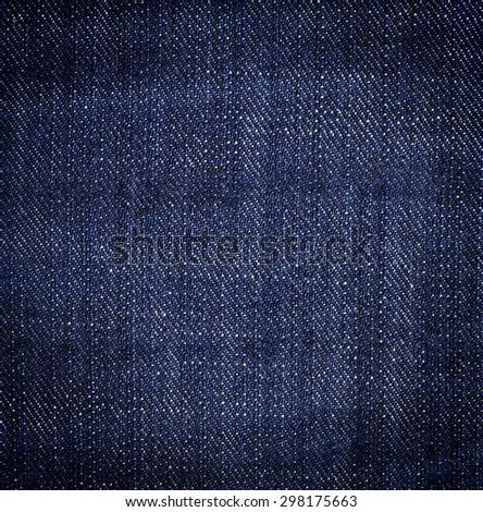 Dark Blue Jeans Denim Texture - stock photo