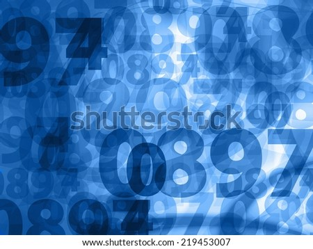dark blue random numbers background texture - stock photo