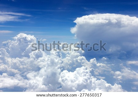 dark blue skies - stock photo