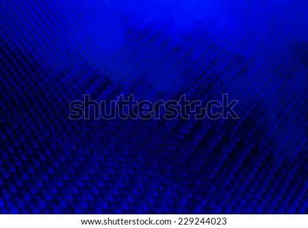 Dark blue smokey honeycomb background - stock photo