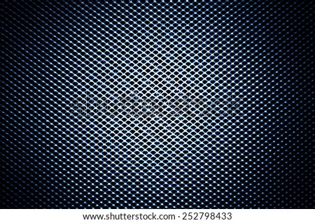 Dark blue technical background with vignette - stock photo