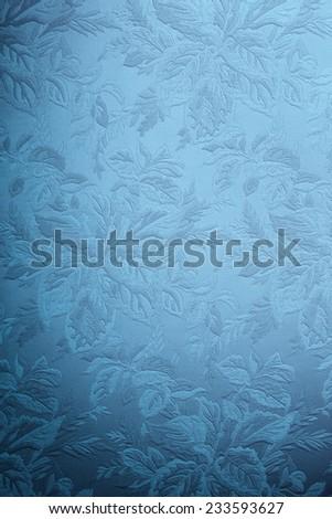Dark blue wallpaper in retro style.  - stock photo