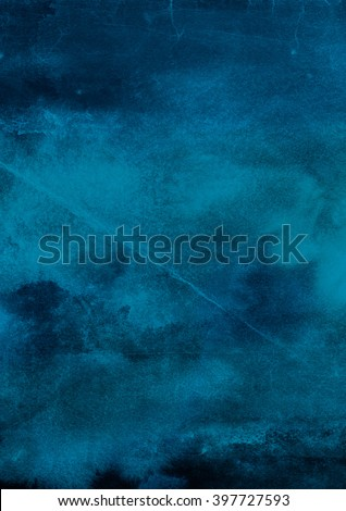 dark blue watercolor background - stock photo