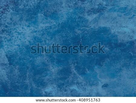 dark blue watercolor background - stock photo