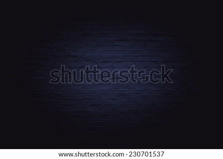 Dark brick wall for background - stock photo