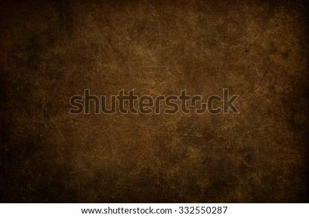 Dark brown background. Grunge texture. Vintage background.  - stock photo