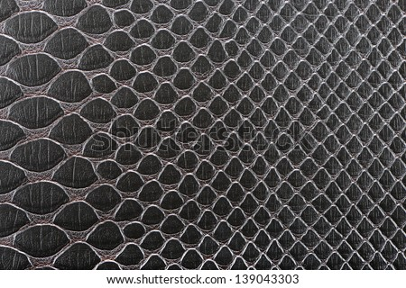 Dark brown synthetic leather with embossed texture background(Cobra) - stock photo