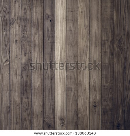 Dark Brown wood plank wall texture background - stock photo