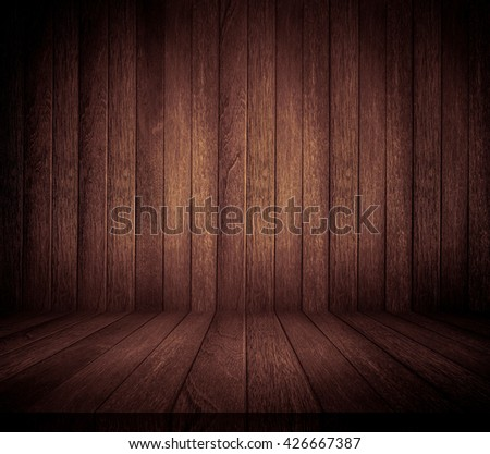 Dark Brown Wood Texture Background, Old Panels Wood - stock photo