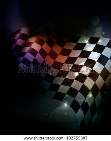 Dark Checkered Background, bitmap copy - stock photo