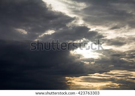 Dark clouds before the rain. - stock photo