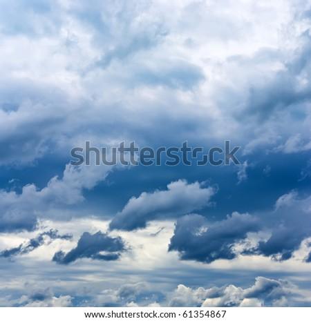 Dark clouds which will bring a rain - stock photo