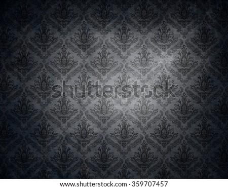 dark elegant wallpaper background. - stock photo