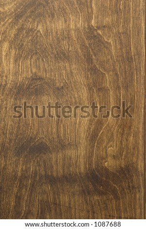 Dark finished pine panel. - stock photo