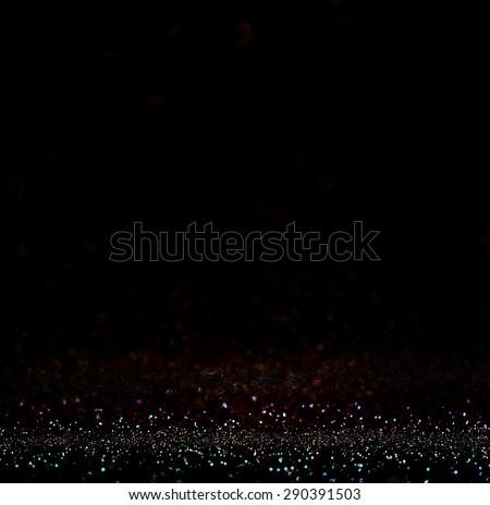 dark glitter vintage lights background. light silver and black. defocused.  - stock photo