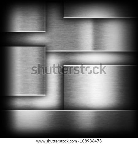 dark gray background of metal texture illustration - stock photo