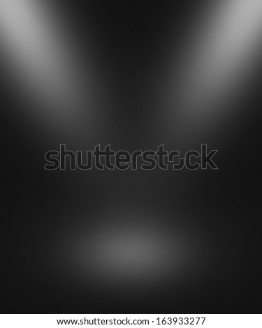 Dark Gray Empty Spotlight Interior Background - stock photo
