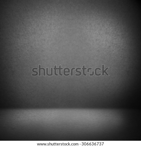 dark gray suede background and beam of lights, empty room as grunge background texture to interior design - stock photo