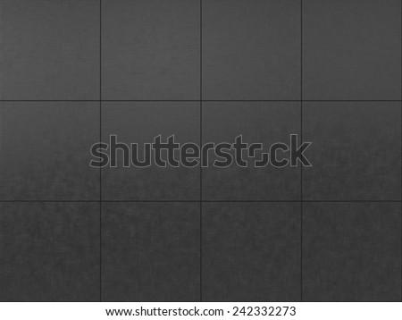 dark gray tiled floor background - stock photo
