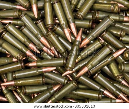 Dark green ammo - stock photo
