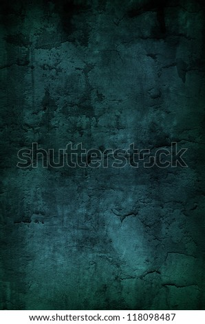Dark green grungy background - stock photo