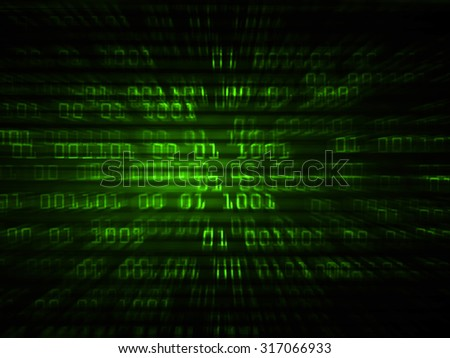 dark green illustration of technology internet network computer background with binary number, style background. infographics. Information. motion blur. pixel. Binary digit - stock photo
