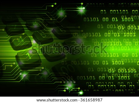dark green Light Abstract Technology background for computer graphic website internet business. circuit. illustration. digital. infographics. binary code. www.Spark.zero one. eye scan virus - stock photo
