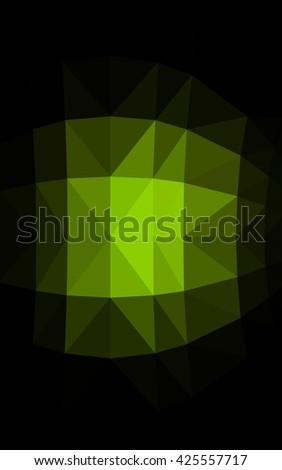 Dark green polygonal illustration, which consist of triangles. Triangular design for your business. Geometric background in Origami style with gradient. - stock photo