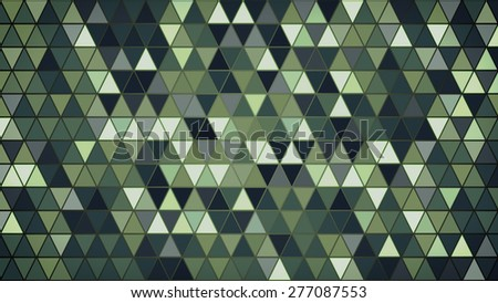 dark green triangles pattern. computer generated abstract background - stock photo