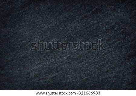 Dark grey black slate background or texture. - stock photo
