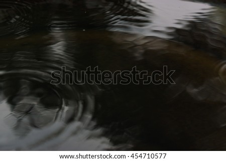 Dark grey water surface with calm splashes and waves - stock photo