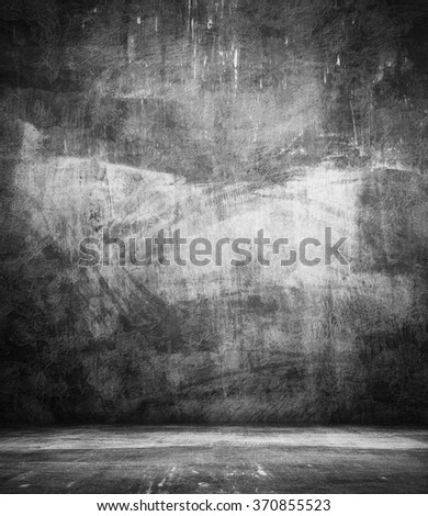 dark grunge interior - stock photo
