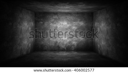 dark interior background - stock photo