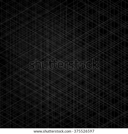 Dark neutral abstract graphic background with geometric elements - stock photo