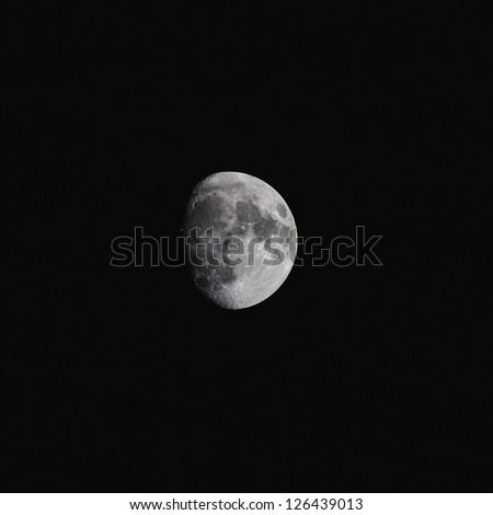 Dark night with moon in the night of halloween - stock photo