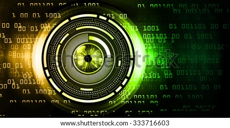 Dark orange green illustration of technology internet network computer background with binary number, style background. infographics. Information. motion blur. pixel. Binary digit. number. eye - stock photo