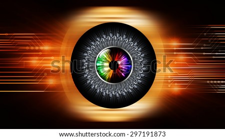 dark orange illustration of technology internet network computer background with binary number, style background. infographics. Information. ray. wave. blur. circuit. eye - stock photo