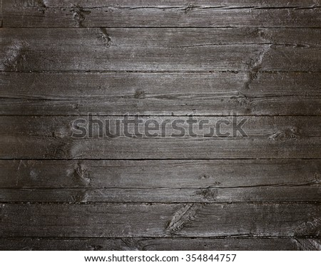 Dark painted old wood texture background - stock photo