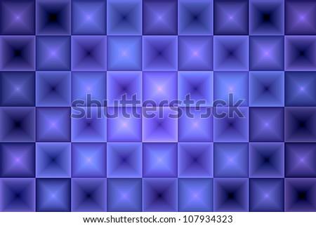 Dark Purple Abstract Tiles Background - stock photo