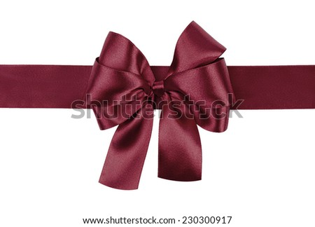 dark purple bow photo made from silk - stock photo