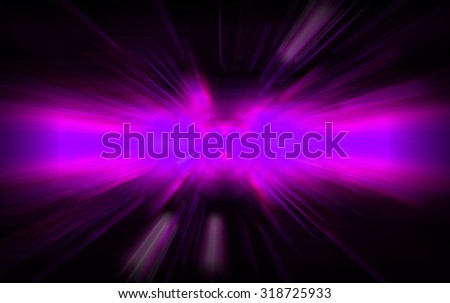 dark purple Light Abstract background. neon laser. zoom motion move blur - stock photo