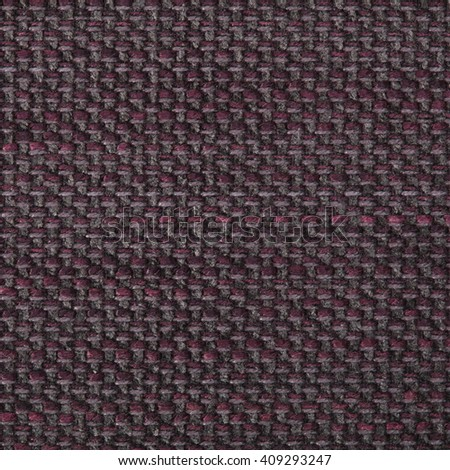Dark red brown fabric texture. Close up, top view. - stock photo