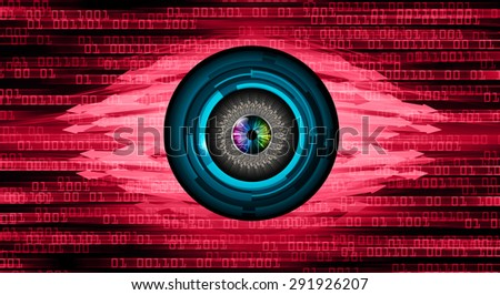 dark red illustration of technology internet network computer background with binary number, Matrix style background. infographics. Information. motion blur. pixel. text box. eye. arrow - stock photo