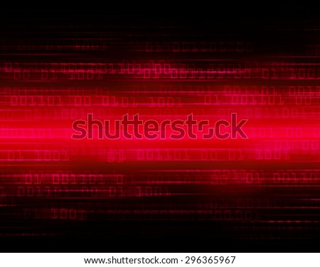 dark red illustration of technology internet network computer background with binary number, style background. infographics. Information. ray. wave. zero. one - stock photo