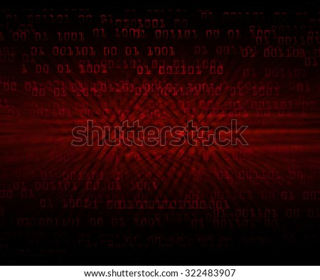 dark red illustration of technology internet network computer background with binary number, style background. infographics. Information. motion blur. pixel. Binary digit - stock photo